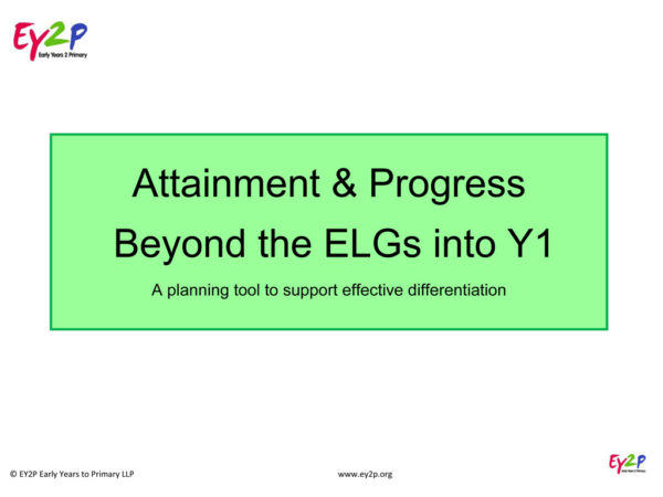 Cover: Attainment & Progress beyond the ELGs into Y1 2018